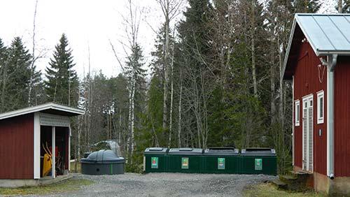 Lantula ekokylä kierrätyspiste